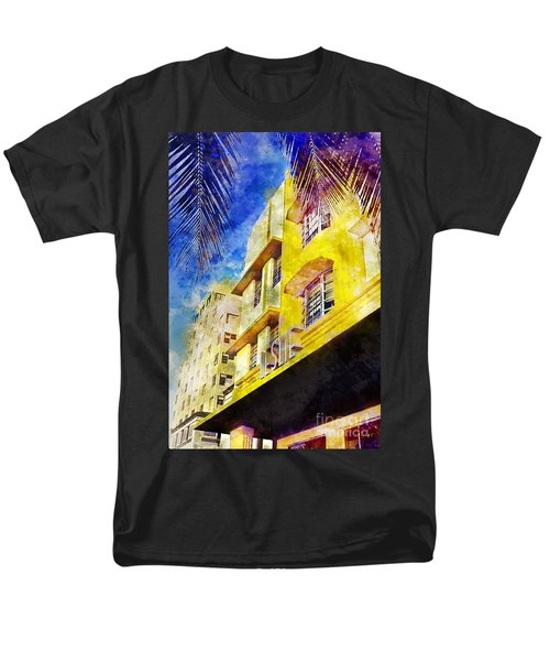 The Leslie Hotel South Beach Men's T-Shirt  (Regular Fit) by Jon Neidert
