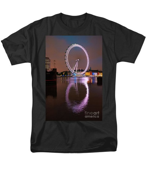 The London Eye Men's T-Shirt  (Regular Fit) by Nichola Denny