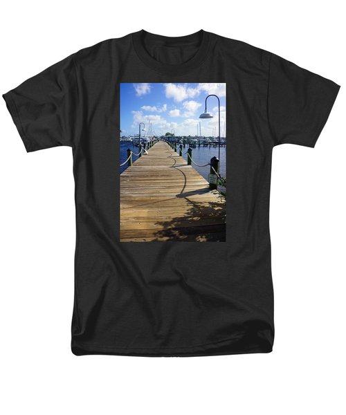 The Naples City Dock Men's T-Shirt  (Regular Fit) by Robb Stan
