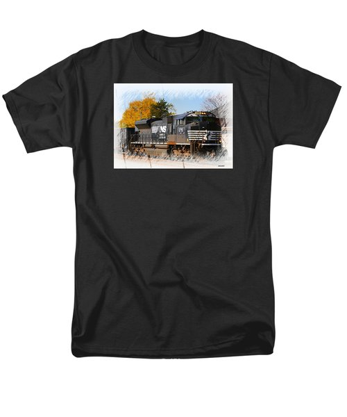 Men's T-Shirt  (Regular Fit) featuring the photograph The Norfolk Southern by Robert Pearson