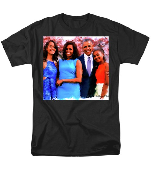 The Obama Family Men's T-Shirt  (Regular Fit) by Ted Azriel
