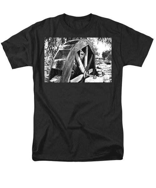 The Old Waterwheel Men's T-Shirt  (Regular Fit) by Ray Shrewsberry