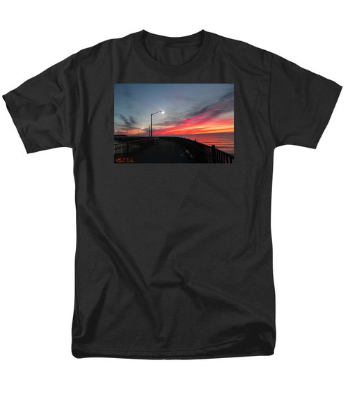 Men's T-Shirt  (Regular Fit) featuring the photograph The Pier by Michael Rucker