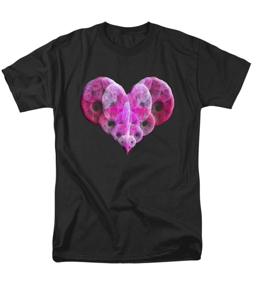 Men's T-Shirt  (Regular Fit) featuring the digital art The Pink Heart by Andee Design
