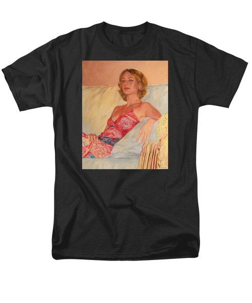 The Queen At Her Ease Men's T-Shirt  (Regular Fit) by Connie Schaertl