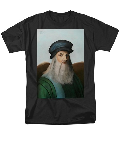 The Master Of Renaissance - Leonardo Da Vinci  Men's T-Shirt  (Regular Fit) by Vishvesh Tadsare