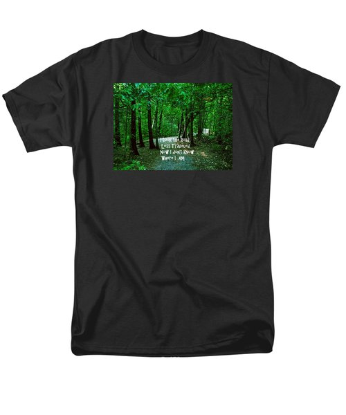 Men's T-Shirt  (Regular Fit) featuring the photograph The Road Less Traveled by Gary Wonning