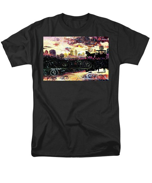 Men's T-Shirt  (Regular Fit) featuring the painting The Road To Home by Shana Rowe Jackson