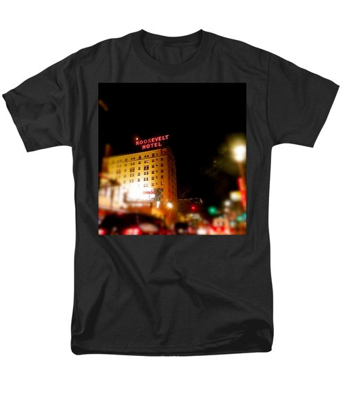 Men's T-Shirt  (Regular Fit) featuring the photograph The Roosevelt Hotel By David Pucciarelli  by Iconic Images Art Gallery David Pucciarelli