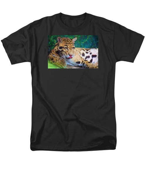 Men's T-Shirt  (Regular Fit) featuring the painting The Clouded Leopard by Judy Kay