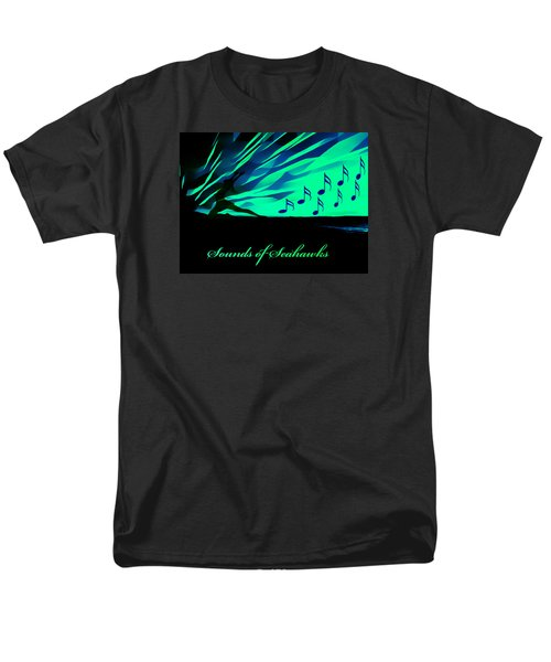 Men's T-Shirt  (Regular Fit) featuring the photograph The Sounds Of Seattle Seahawks by Eddie Eastwood