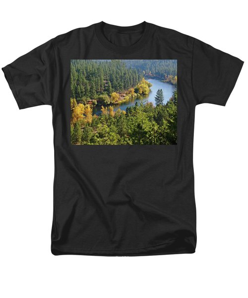 Men's T-Shirt  (Regular Fit) featuring the photograph The Spokane River  by Ben Upham III