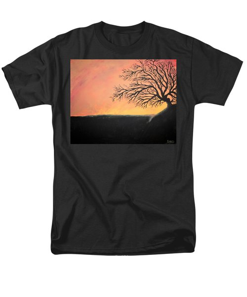 Men's T-Shirt  (Regular Fit) featuring the painting The Sun Was Set by Antonio Romero