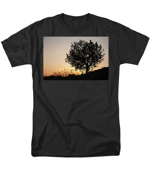 Men's T-Shirt  (Regular Fit) featuring the photograph Sunset On The Hill by Yoel Koskas