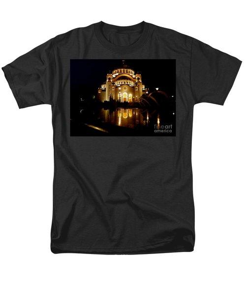 The Temple Of Saint Sava In Belgrade  Men's T-Shirt  (Regular Fit) by Danica Radman