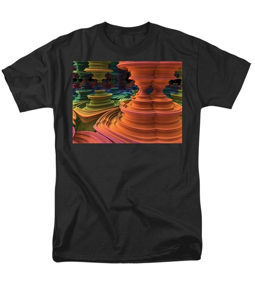Men's T-Shirt  (Regular Fit) featuring the digital art The Towers Of Zebkar by Lyle Hatch