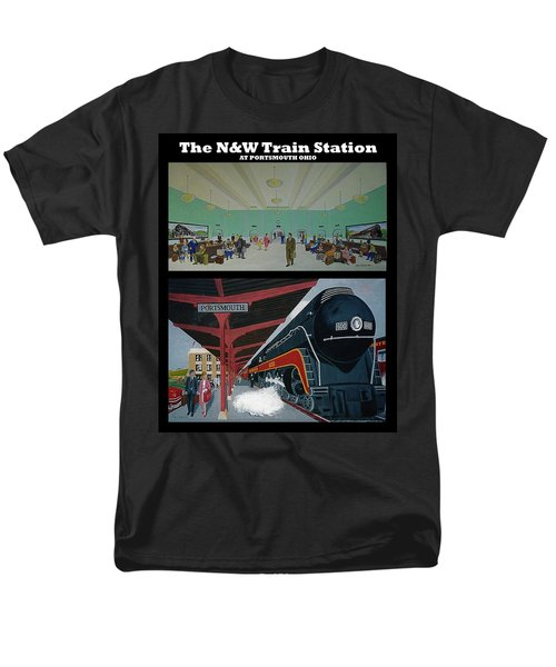 The Train Station At Portsmouth Ohio Men's T-Shirt  (Regular Fit) by Frank Hunter