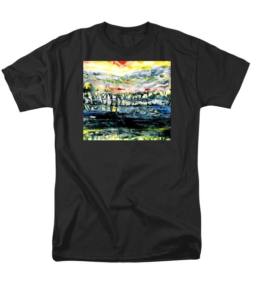 Men's T-Shirt  (Regular Fit) featuring the painting The Twisted Reach Of Crazy Sorrow by Trudi Doyle