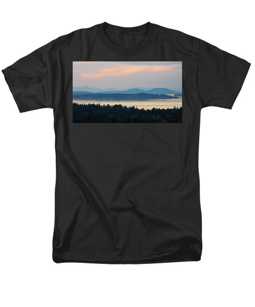 The View From Mt. Tolmie Men's T-Shirt  (Regular Fit) by Keith Boone