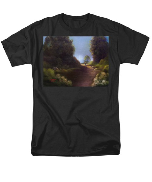 Men's T-Shirt  (Regular Fit) featuring the painting The Walk Home by Marlene Book