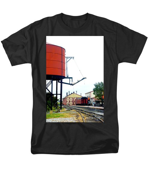 Men's T-Shirt  (Regular Fit) featuring the photograph The Water Tower by Paul W Faust - Impressions of Light