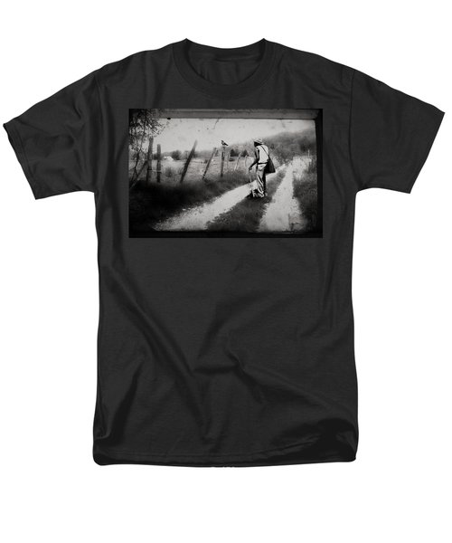 The Way Of The Crow Men's T-Shirt  (Regular Fit) by Gray  Artus