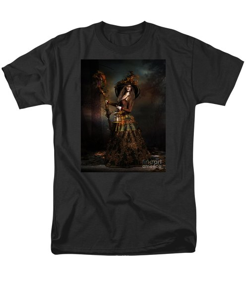 Men's T-Shirt  (Regular Fit) featuring the digital art The Wood Witch by Shanina Conway