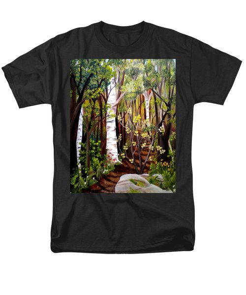 The Woodland Trail Men's T-Shirt  (Regular Fit) by Renate Nadi Wesley