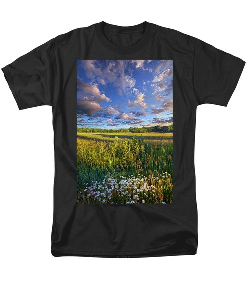 The World Is Quiet Here Men's T-Shirt  (Regular Fit) by Phil Koch