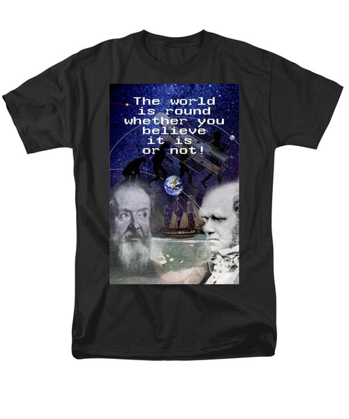 The World Is Round Men's T-Shirt  (Regular Fit) by Steve Karol