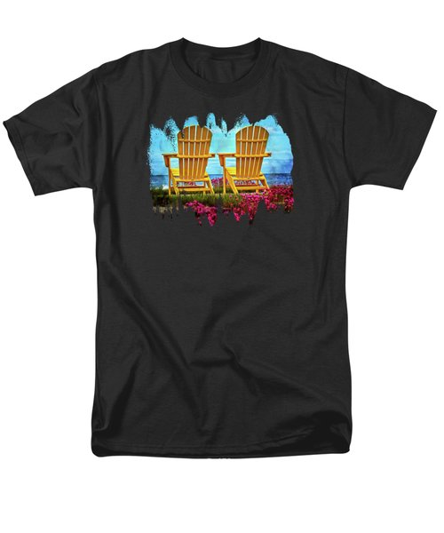 The Yellow Chairs By The Sea Men's T-Shirt  (Regular Fit)