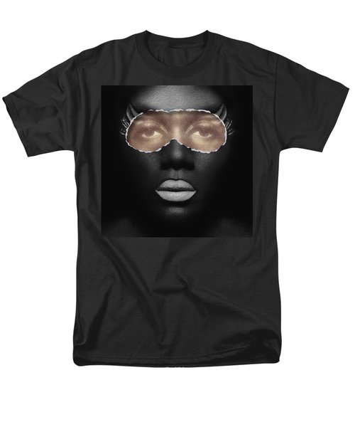 Thin Skinned Black Men's T-Shirt  (Regular Fit) by ISAW Gallery