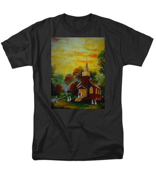 Men's T-Shirt  (Regular Fit) featuring the painting This Sunday by Emery Franklin