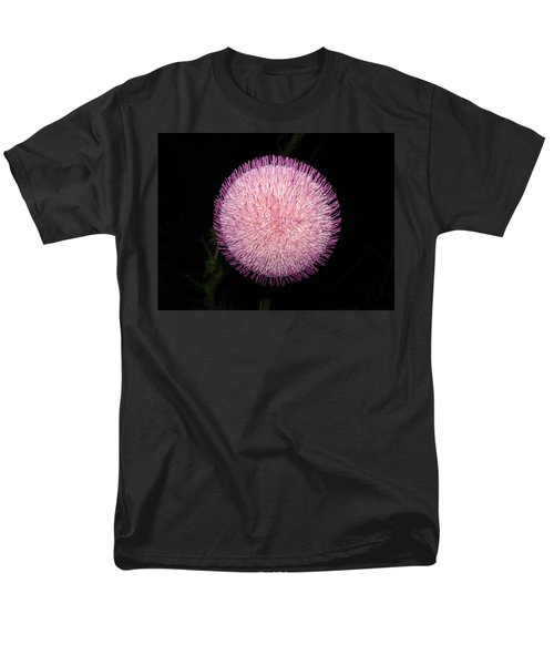 Thistle Bloom At Night Men's T-Shirt  (Regular Fit) by J R Seymour
