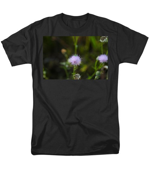 Thistles Morning Dew Men's T-Shirt  (Regular Fit) by Christopher L Thomley