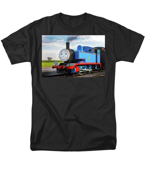 Thomas The Train Men's T-Shirt  (Regular Fit) by Paul W Faust -  Impressions of Light