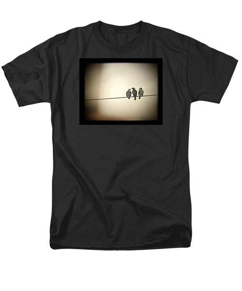 Three Little Birds Men's T-Shirt  (Regular Fit) by Trish Mistric