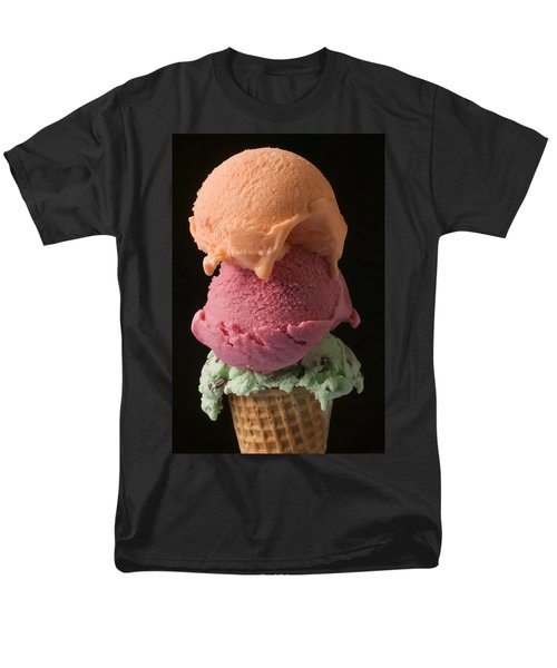 Three Scoops Of Ice Cream  Men's T-Shirt  (Regular Fit) by Garry Gay