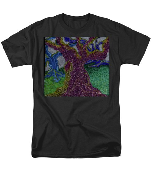 Men's T-Shirt  (Regular Fit) featuring the drawing Three Trees by Kim Sy Ok