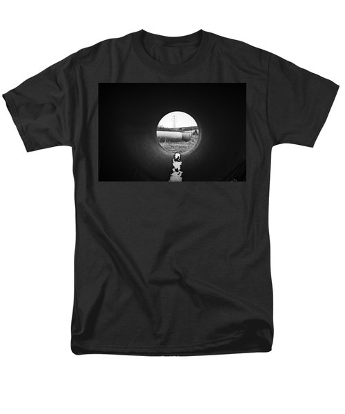 Men's T-Shirt  (Regular Fit) featuring the photograph Through The Pipe by Keith Elliott
