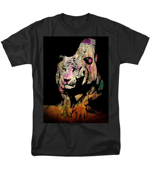 Men's T-Shirt  (Regular Fit) featuring the drawing Tiger Collage #1 by Kim Gauge