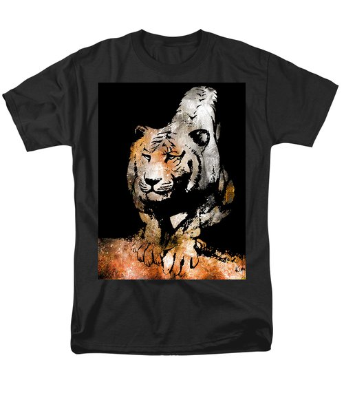 Men's T-Shirt  (Regular Fit) featuring the drawing Tiger Collage #6 by Kim Gauge