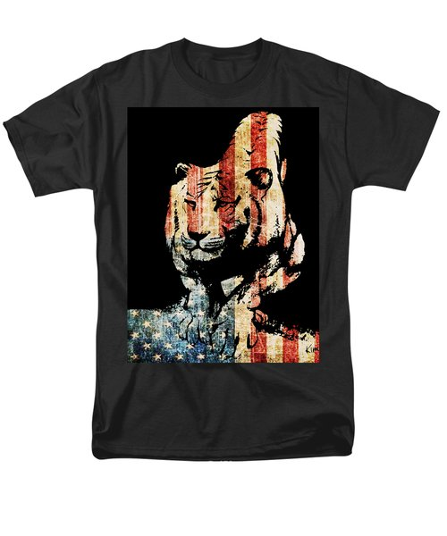 Men's T-Shirt  (Regular Fit) featuring the drawing Tiger Collage #9 by Kim Gauge