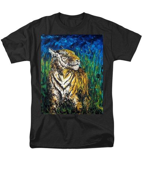 Tiger Night Hunt Men's T-Shirt  (Regular Fit) by Shirley Heyn