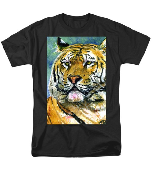 Tiger Portrait Men's T-Shirt  (Regular Fit) by John D Benson