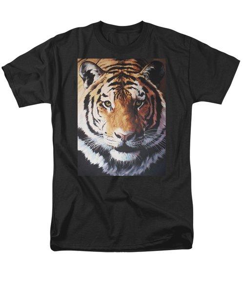Tiger Portrait Men's T-Shirt  (Regular Fit) by Vivien Rhyan