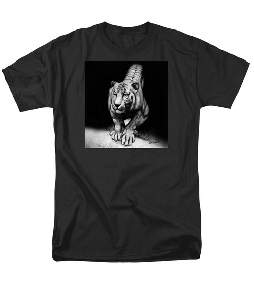 Men's T-Shirt  (Regular Fit) featuring the drawing Tiger Study by Kim Gauge