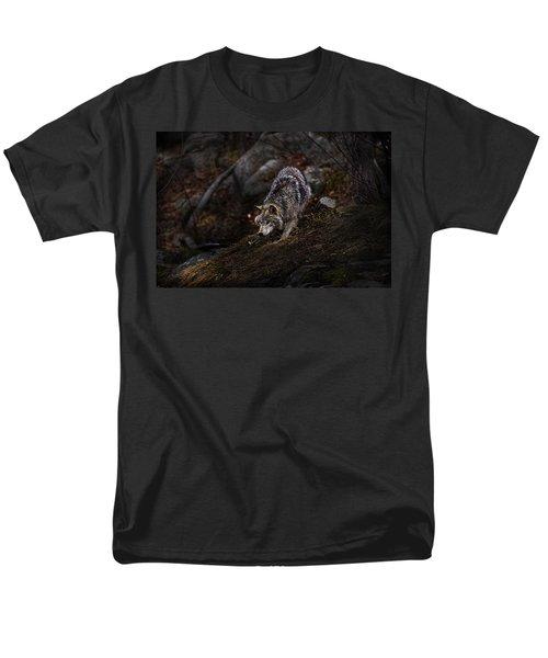 Timber Wolf On Hill Men's T-Shirt  (Regular Fit) by Michael Cummings