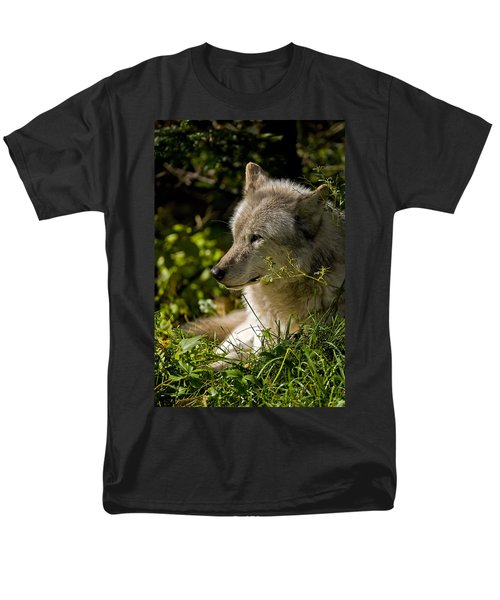 Men's T-Shirt  (Regular Fit) featuring the photograph Timber Wolf Portrait by Michael Cummings