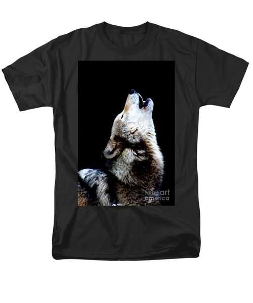 Time To Howl Men's T-Shirt  (Regular Fit) by Nick Gustafson